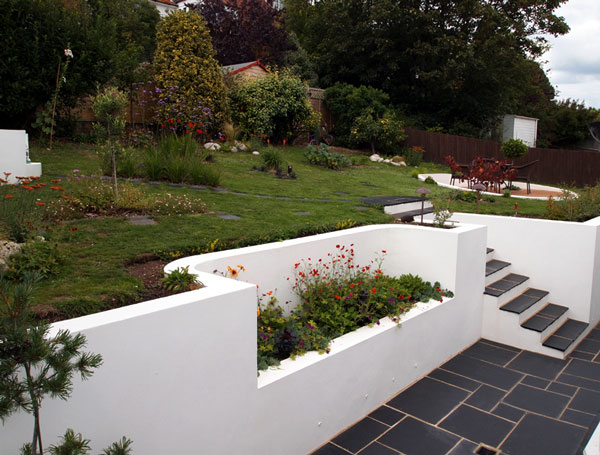 Case study brighton worthing area garden designer for White garden walls