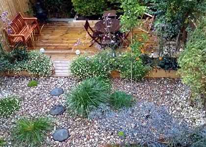 Small easily maintained garden