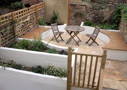 Split level garden, Hanover, Brighton